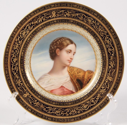 Wagner portrait plate of Saint Justina