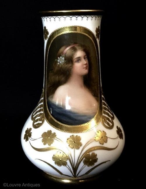 Royal Vienna portrait vase Volupte