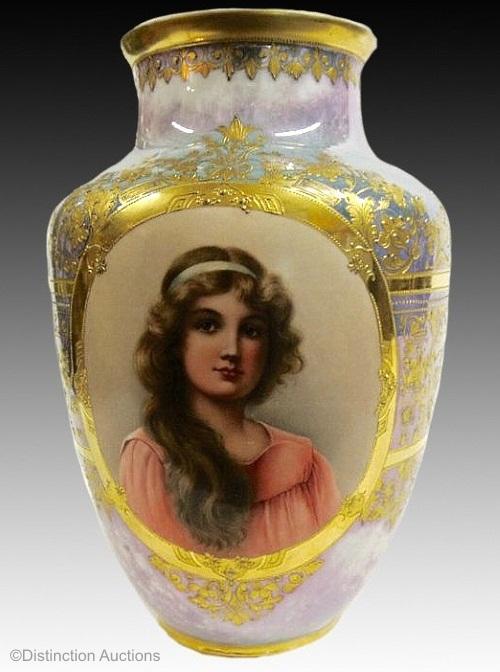Royal Vienna Wagner lusterware vase