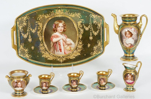 Wagner coffee service with child portraits