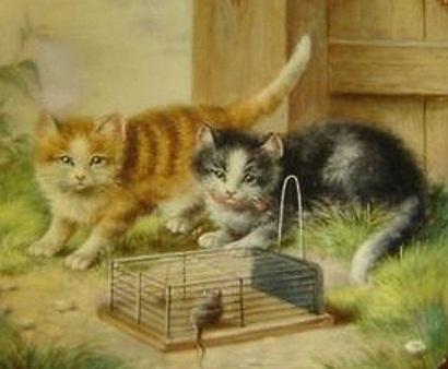 royal-vienna-cats-plate-detail